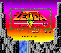 Legend of Zelda, The - Fourth Quest Title Screen