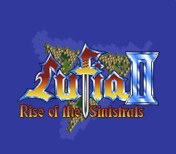 Lufia II - Rise of the Sinistrals Title Screen