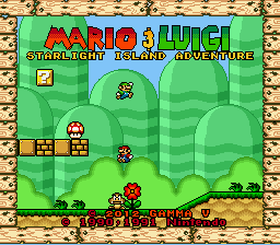 Mario & Luigi - Starlight Island Adventure Title Screen