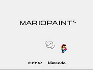 Mario Paint (Joystick) Title Screen