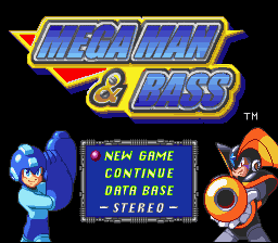 Mega Man & Bass (English Translation) Title Screen