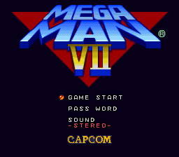 Mega Man 7 Title Screen