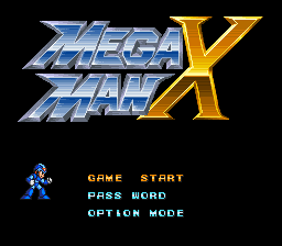 Mega Man X Title Screen