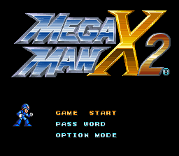 Mega Man X2 Title Screen