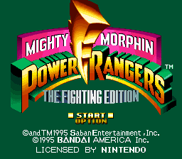 Mighty Morphin Power Rangers - Fighting Edition Title Screen