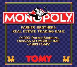 Monopoly Title Screen