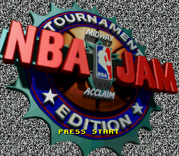 NBA Jam - Tournament Edition Title Screen