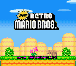 New Retro Mario Bros Title Screen