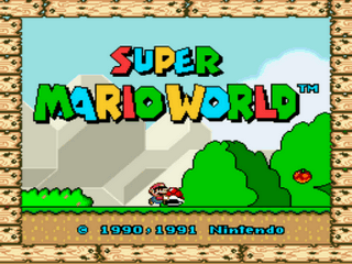 The New Super Mario World Title Screen