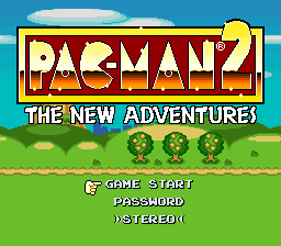 Pac-Man 2 - The New Adventures Title Screen