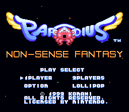 Parodius - Non-Sense Fantasy Title Screen