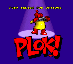 Plok! Title Screen