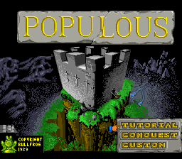 Populous Title Screen