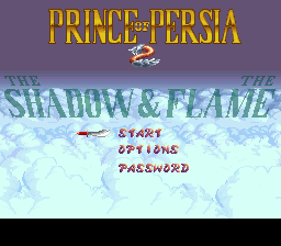 Prince of Persia 2 - The Shadow & The Flame Title Screen
