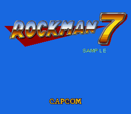 Rockman 7 (Prototype) Title Screen