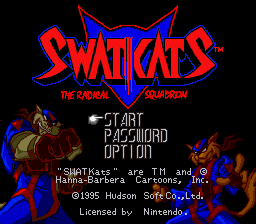 SWAT Kats - The Radical Squadron Title Screen
