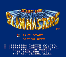 Saturday Night Slam Masters Title Screen