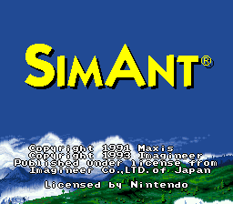 Sim Ant Title Screen