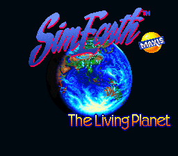 Sim Earth - The Living Planet Title Screen