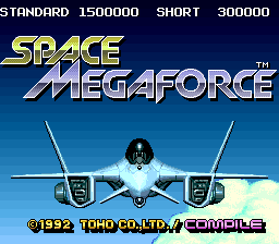 Space Megaforce Title Screen