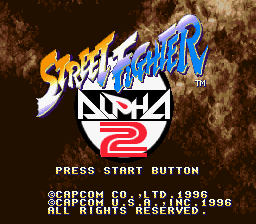 Play Street Fighter Alpha 2 Online Snes Game Rom Super Nintendo