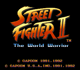 Street Fighter II - The World Warrior Title Screen