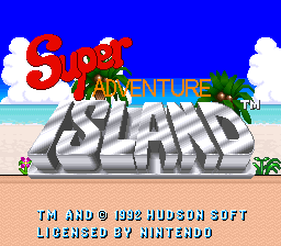 Super Adventure Island Title Screen