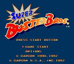Super Buster Bros. Title Screen