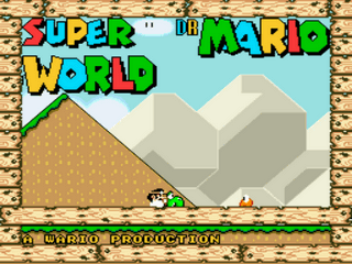 Super Dr. Mario World Title Screen