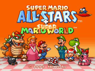 Super Mario All-Stars + Super Mario World Title Screen