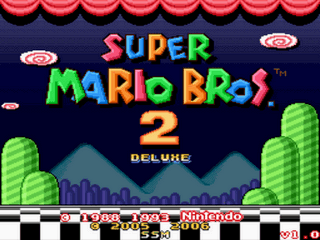 Super Mario Bros 2 Deluxe Title Screen