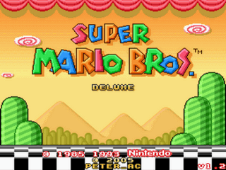 Super Mario Bros Deluxe Title Screen