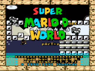 Super Mario Dark World part 2 Title Screen