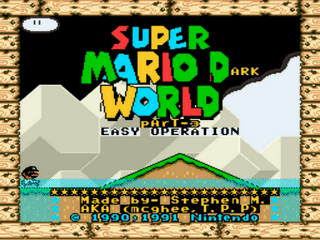 Super Mario Dark World part 3 Easy Op Title Screen
