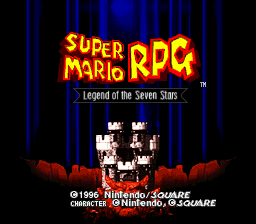Super Mario RPG - Legend of the Seven Stars Title Screen