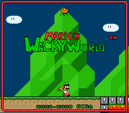 Super Mario Wacky Worlds - Star World (demo) Title Screen