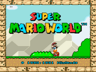 Super Mario World (hack) Title Screen