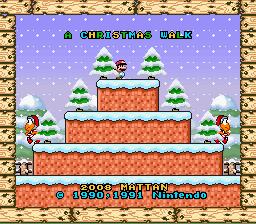 Super Mario World Christmas.Play Super Mario World A Christmas Walk Online Snes Rom