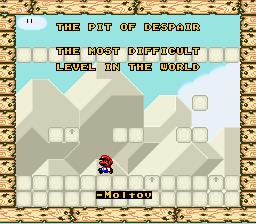 Super Mario World - Pit of Despair Title Screen