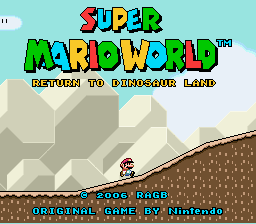 Super Mario World - Return to Dinosaur Land Title Screen