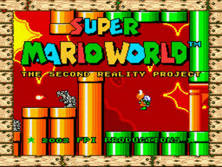 Super Mario World - The Second Reality Project Title Screen