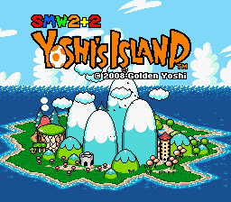 Super Mario World 2 Plus 2 Title Screen