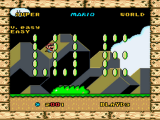 Super Mario World Advanced - Easy mode Title Screen