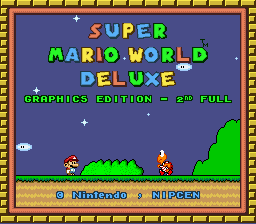 Super Mario World Deluxe - Graphics Edition Title Screen