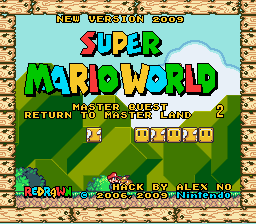 Super Mario World Master Quest 2 - Return to Master Land Title Screen