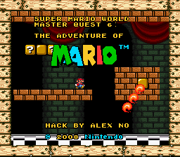 Super Mario World Master Quest 6 - The Adventure of Mario Title Screen