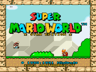 Super Mario World Star Edition Title Screen