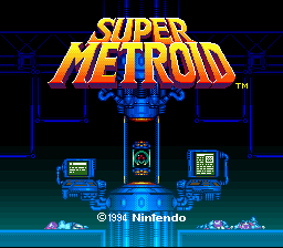 Super Metroid - Boss Rush Mode Title Screen