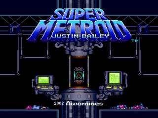 Super Metroid Justin Bailey Title Screen