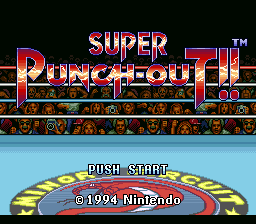 Super Punch-Out!! Title Screen